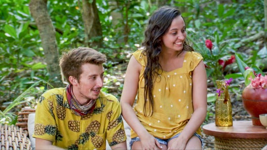 """Gavin Whitson and his wife Carly on """"Survivor: Edge of Extinction."""""""