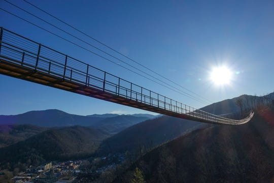 The nearly 700-foot-long Gatlinburg SkyBridge at Skylift Park will open to the public Friday, May 17, at 1 p.m.