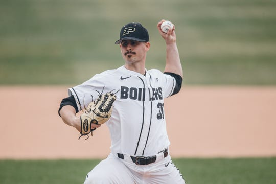 Purdue senior Patrick J. Smith has developed from little-used reliever last season to weekend Big Ten starter in 2019.