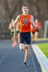 Brighton's Scott Spaanstra won the 200 and 400 against Plymouth.