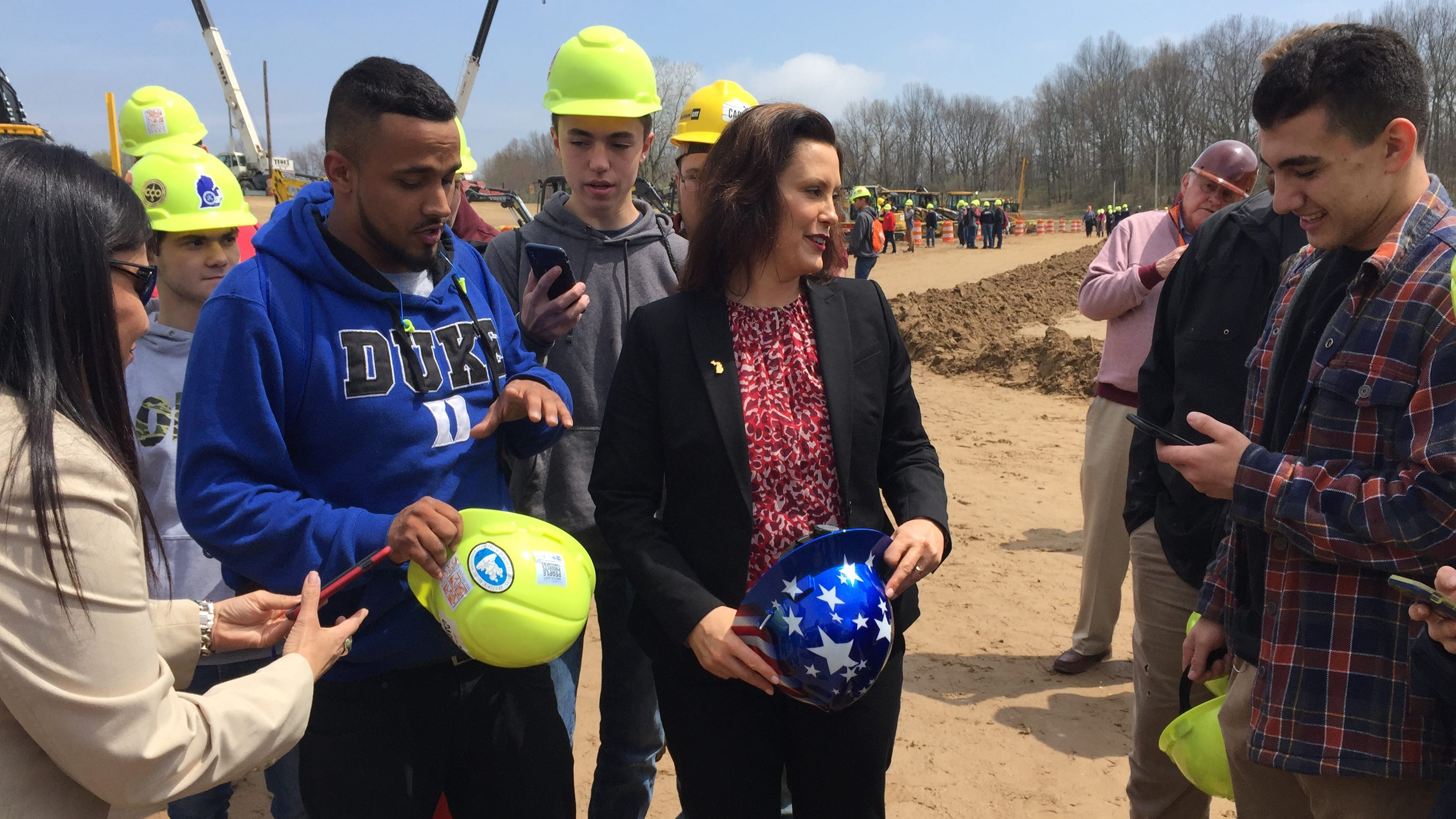 Whitmer Joins Students To Promote Jobs In Skilled Trades