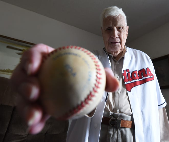 Ernest Thacker is looking forward to throwing out the first pitch at Tuesday's Cleveland Indians game.