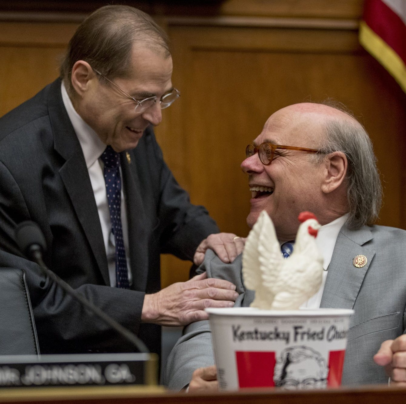Rep. Steve Cohen brought a fake chicken for William Barr's empty seat at House committee hearing