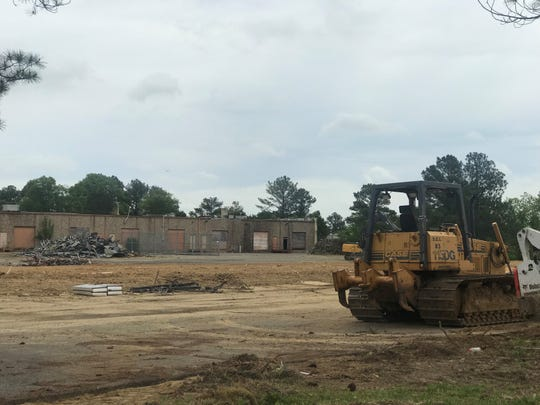Construction is underway at Power Transport's new Whitehaven headquarters at 3036 Directors Row.