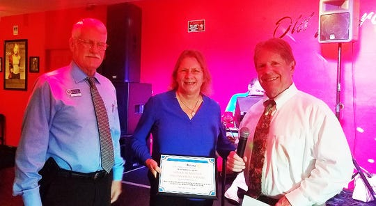The Rotary Club of Marco Island Sunrise recently awarded Susan Ackerson as its 2018 Fourth Quarter Unsung Hero.