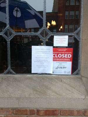 Mader's put up a sign Thursday noting that the restaurant would be temporarily closed.