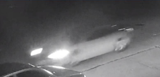 This still image shows a car that is suspected to have hit a 73-year-old pedestrian on April 26 in West Allis, leaving her with life-threatening injuries. The car fled the scene.