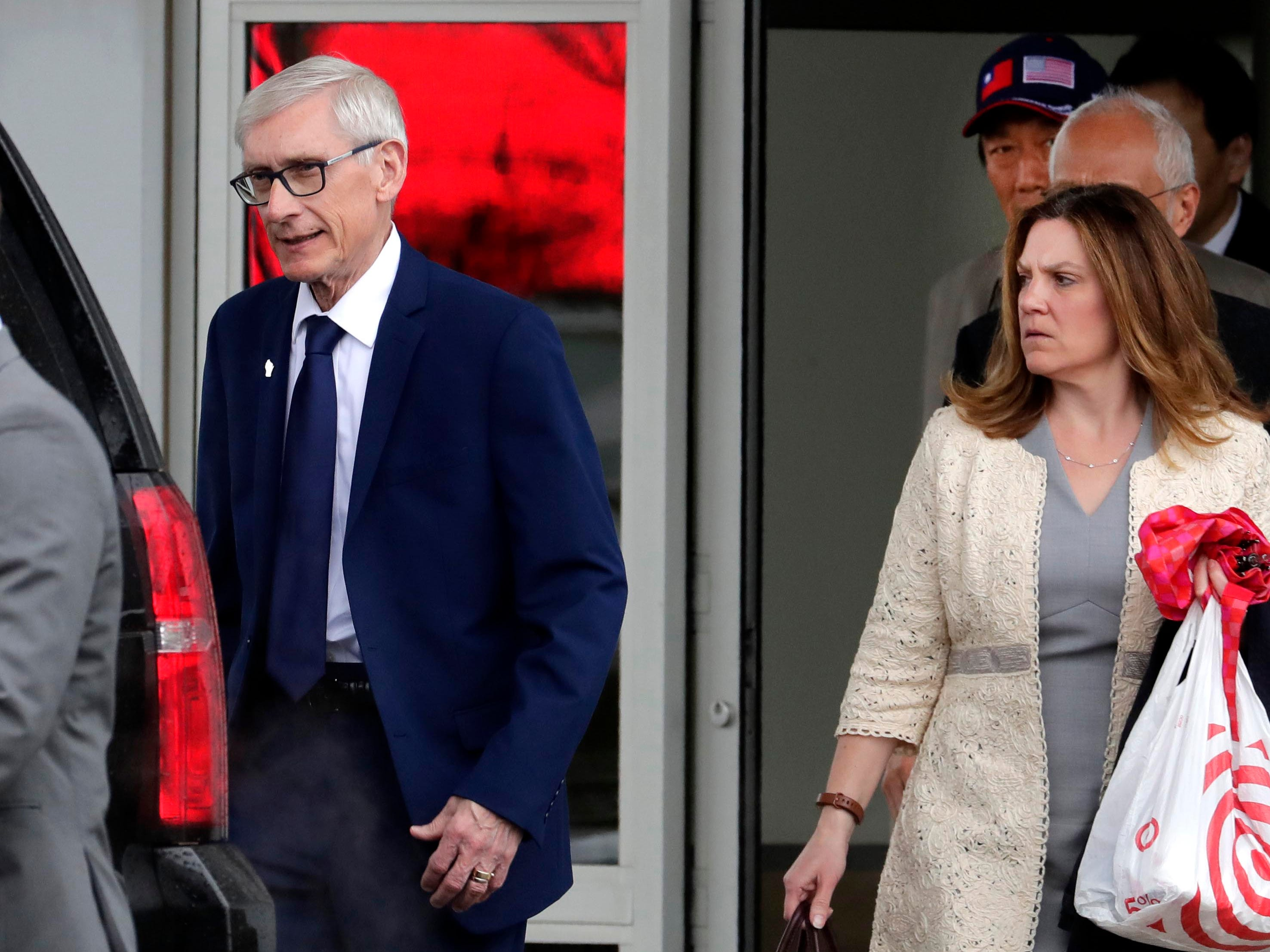 Wisconsin Gov. Tony Evers walks back doubts about Foxconn after meeting with CEO Terry Gou in Milwaukee