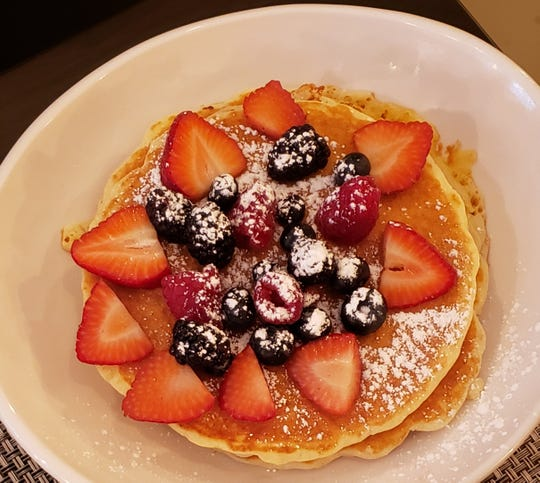 Orenda Cafe has sandwiches, salads and soup, but the bulk of the menu is breakfast dishes, such as pancakes with fresh berries.