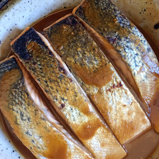 Marinating salmon in miso gives it an earthy, umami flavor.