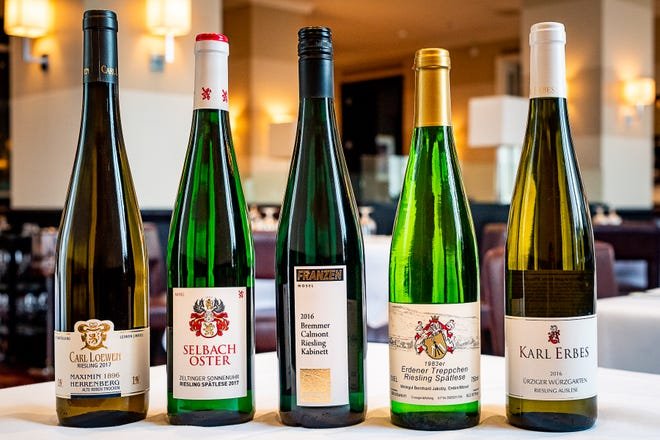 Rieslings that show the wine's range in a single region, Germany's Mosel River Valley, will be poured with five courses at Bacchus downtown on May 30.