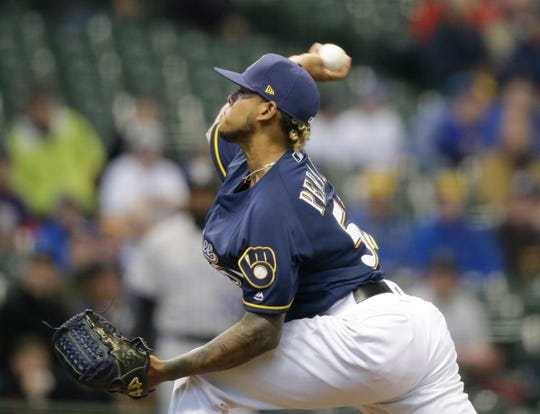 Brewers pitcher Freddie Peralta was rocked by the Rockies in his first start since coming off the IL on Thursday.