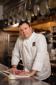 Nick Wirth, the executive chef of Bacchus at 925 E. Wells St., took inspiration from restaurants in the Mosel region for his menu for the Riesling dinner.