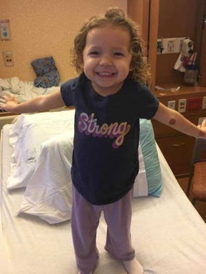This photo was taken the day Talia Hernandez was discharged from Children's Hospital of Wisconsin.