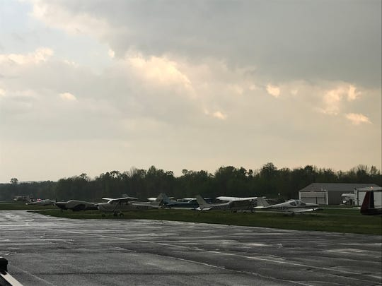 Lincoln Park Airport on Thursday after a helicopter crashed during a hover maneuver.