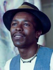 Montgomery artist Fishoe in his studio in Montgomery, Ala., on February 28, 1992.