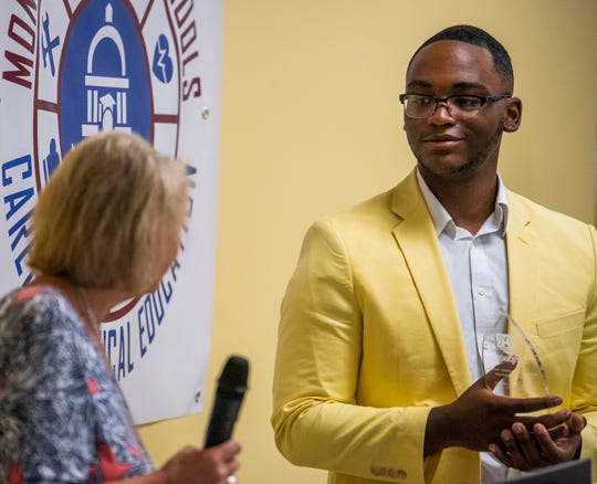 Hezekiah Dixon is named the MPACT Employee of the Year during the MPACT end of the year awards ceremony held at the school in Montgomery, Ala., on Thursday May 2, 2019. Dixon was also named the Health Science Employee of the Year at the ceremony.
