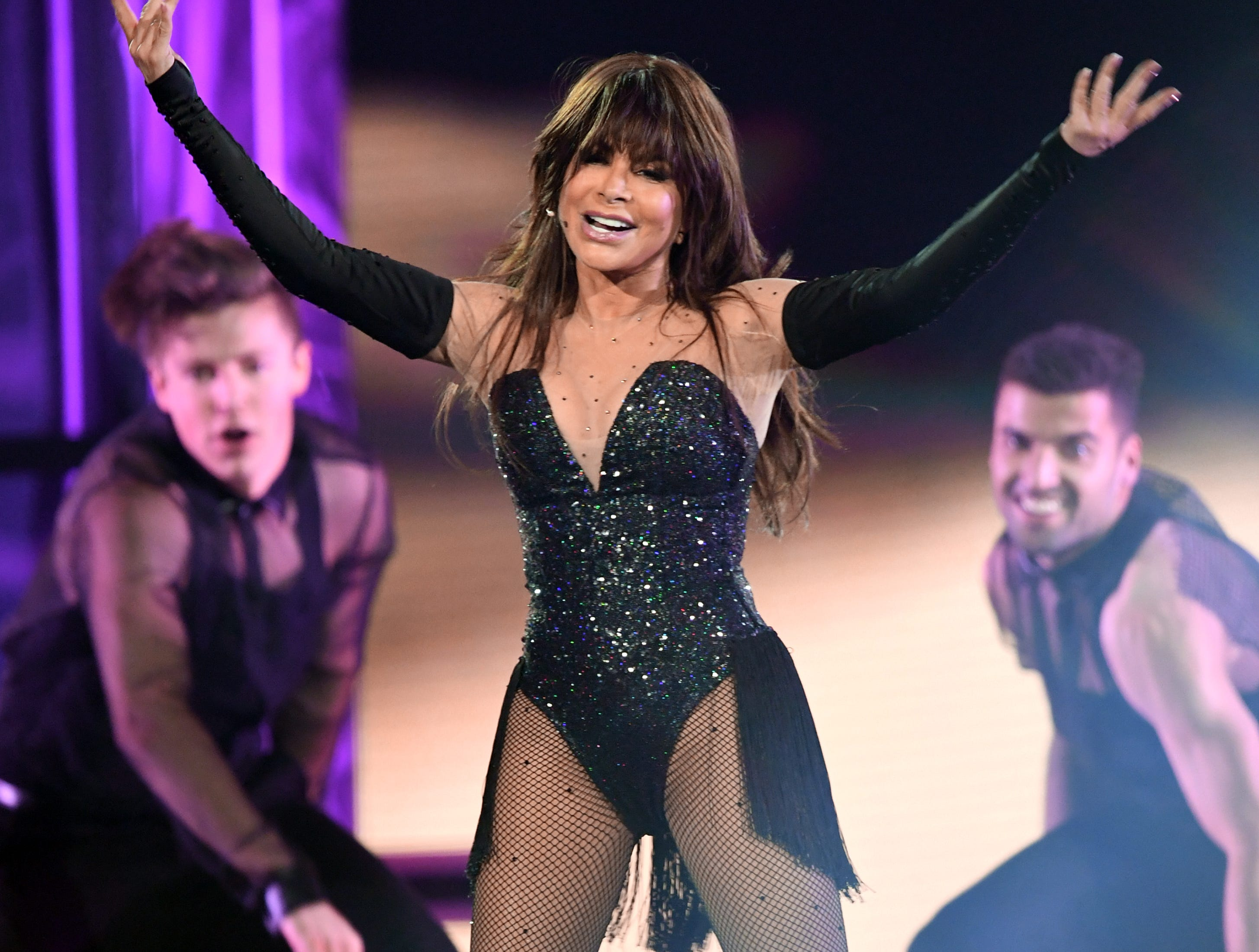 Paula Abdul performs onstage during the 2019 Billboard Music Awards at MGM Grand Garden Arena on May 01, 2019 in Las Vegas, Nevada.