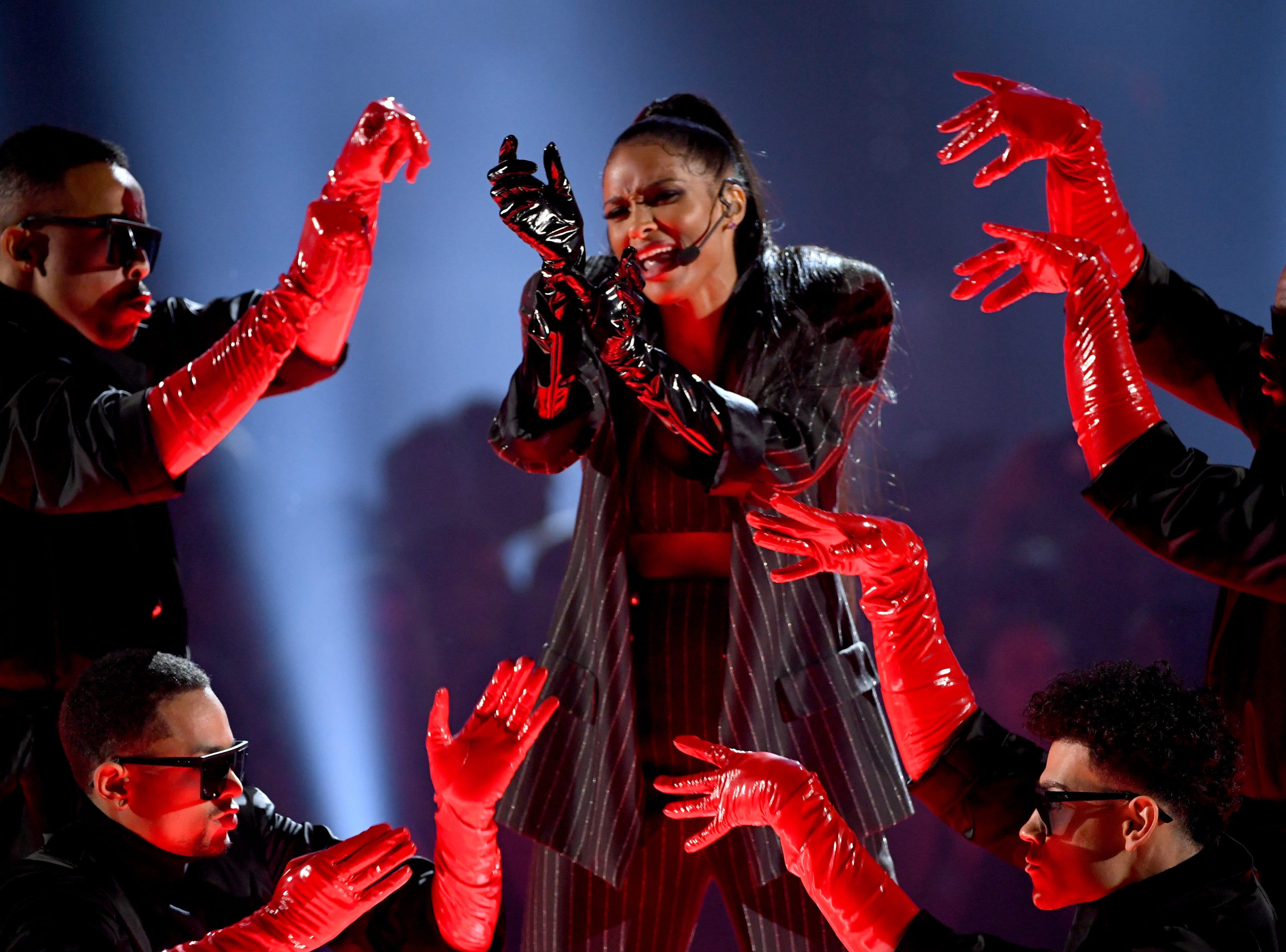Ciara (C) performs onstage during the 2019 Billboard Music Awards at MGM Grand Garden Arena on May 01, 2019 in Las Vegas, Nevada.