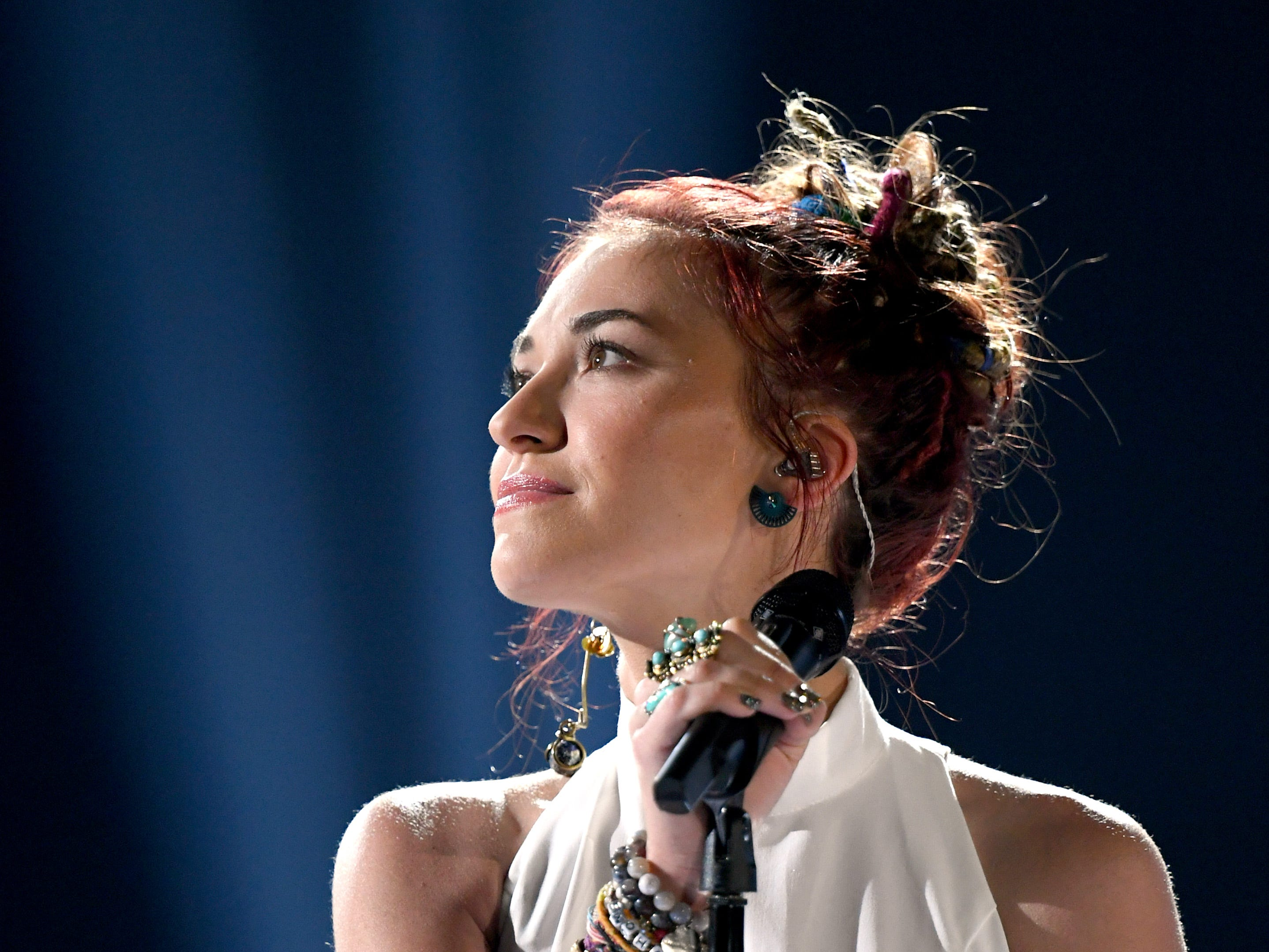 Lauren Daigle performs onstage during the 2019 Billboard Music Awards at MGM Grand Garden Arena on May 01, 2019 in Las Vegas, Nevada.
