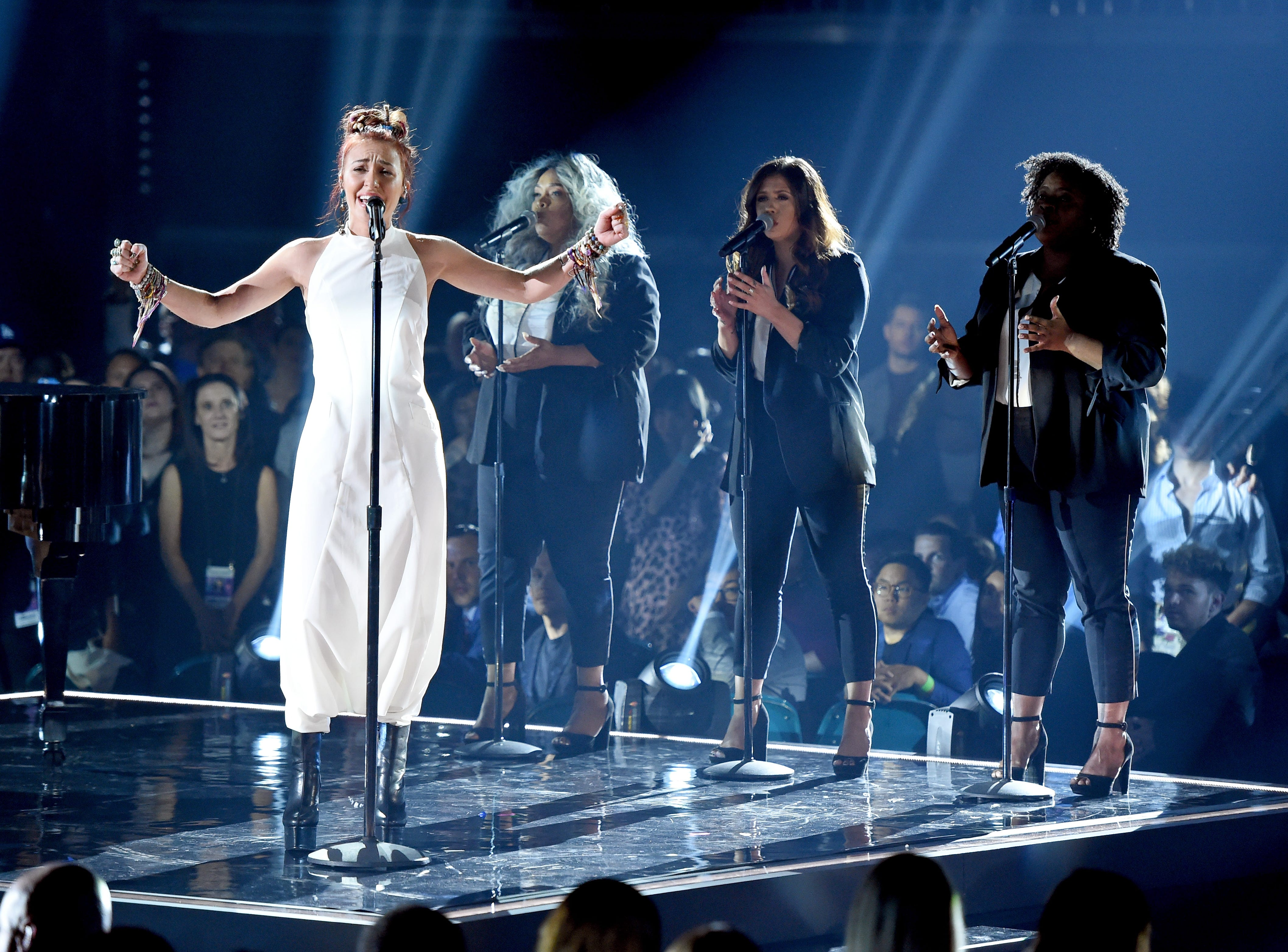 Lauren Daigle performs onstage during the 2019 Billboard Music Awards at MGM Grand Garden Arena on May 1, 2019 in Las Vegas, Nevada.