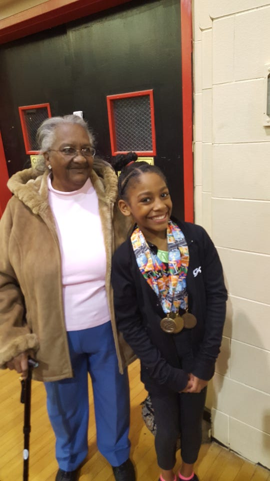 A 2014 picture of Devin DeLaughter's grandmother, Mattie Fowlkes, and DeLaughter's younger daughter, Erica