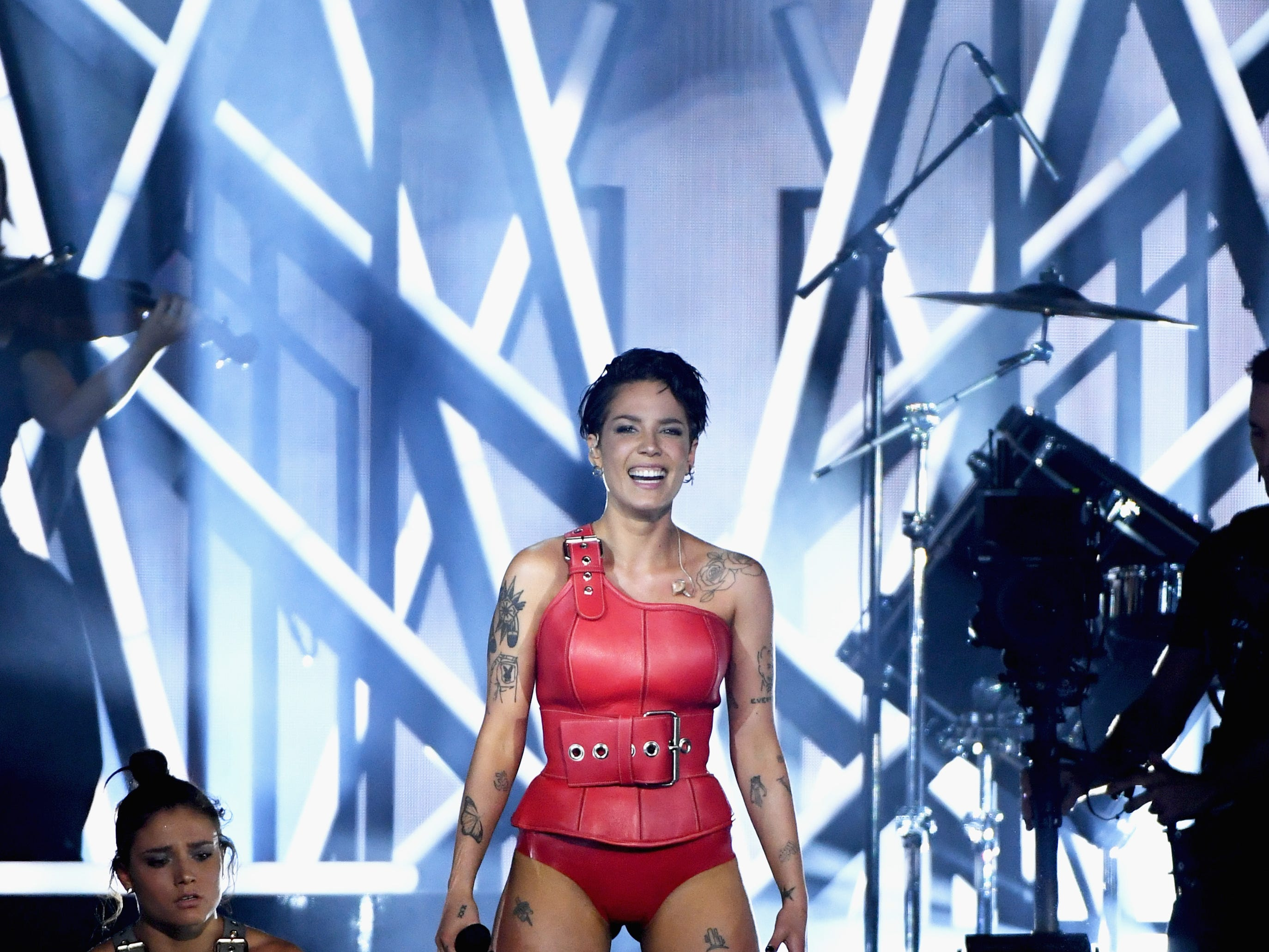 Halsey performs onstage during the 2019 Billboard Music Awards at MGM Grand Garden Arena on May 1, 2019 in Las Vegas, Nevada.