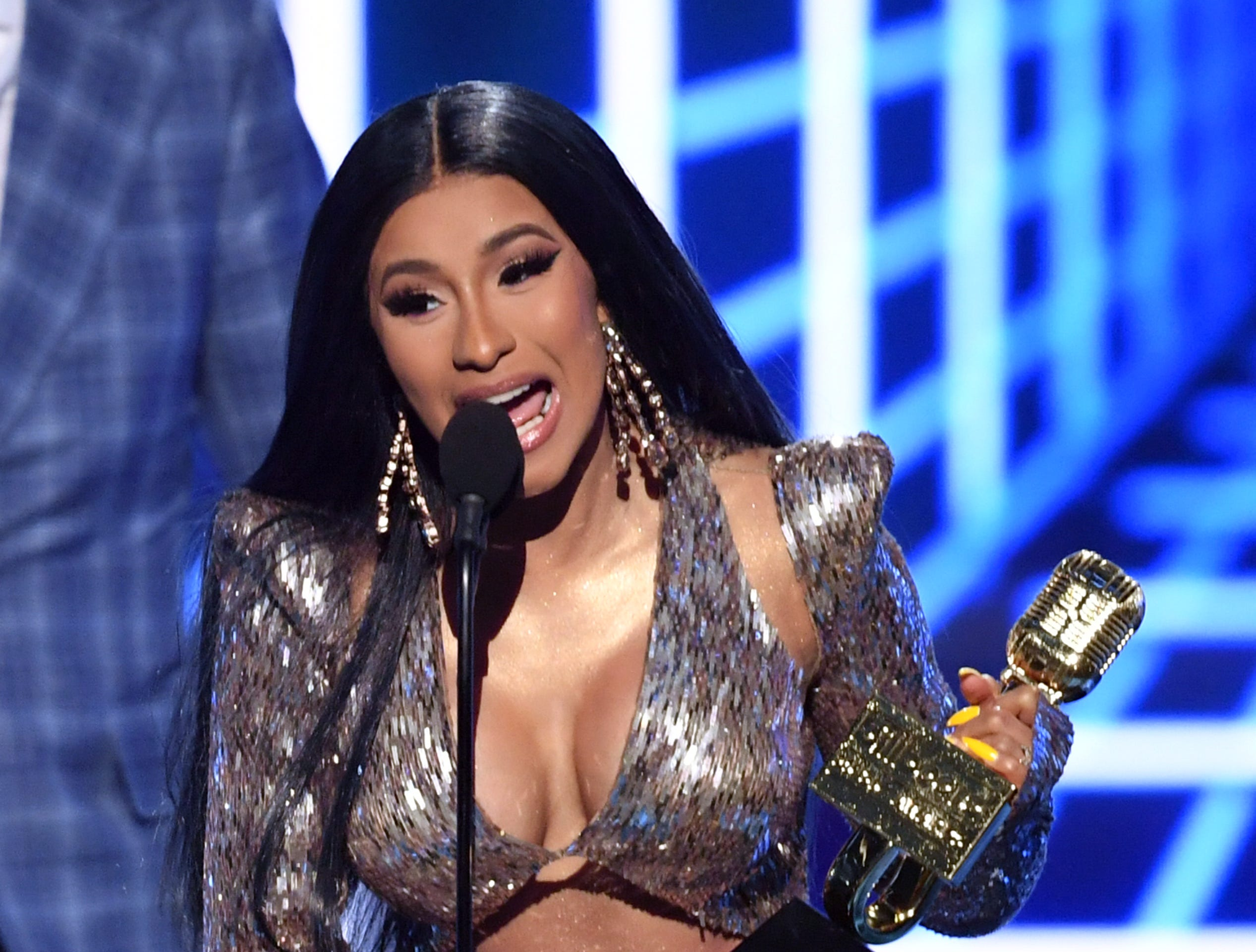 Cardi B accepts the Top Rap Song award for 'I Like It' onstage during the 2019 Billboard Music Awards at MGM Grand Garden Arena on May 01, 2019 in Las Vegas, Nevada.