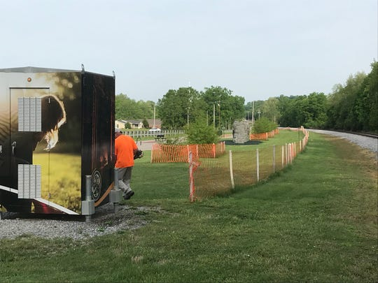 Construction fencing is up for the future Town Center Trail Phase 2 along West Division Street in Mt. Juliet.