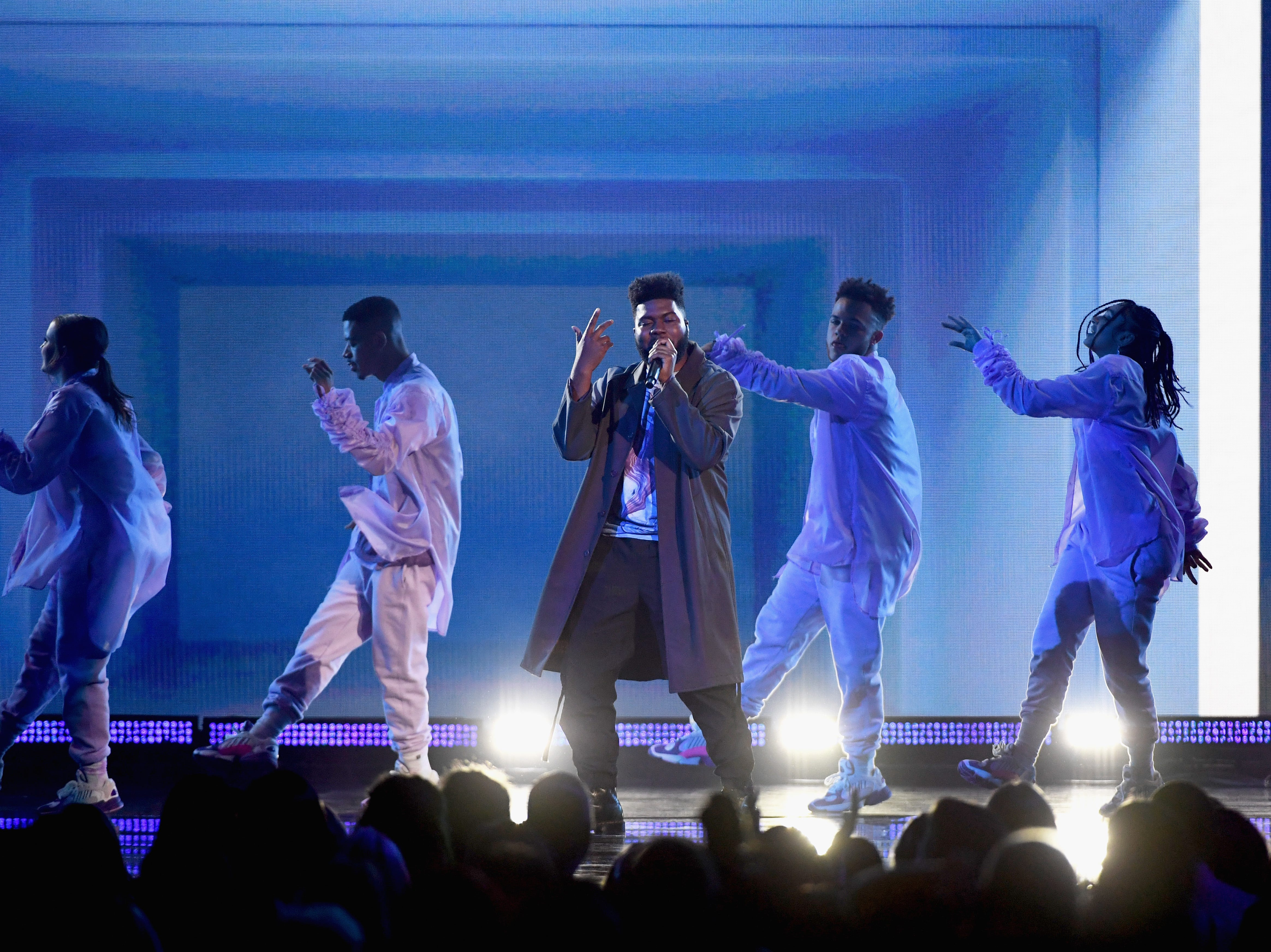 Khalid performs onstage during the 2019 Billboard Music Awards at MGM Grand Garden Arena on May 1, 2019 in Las Vegas, Nevada.