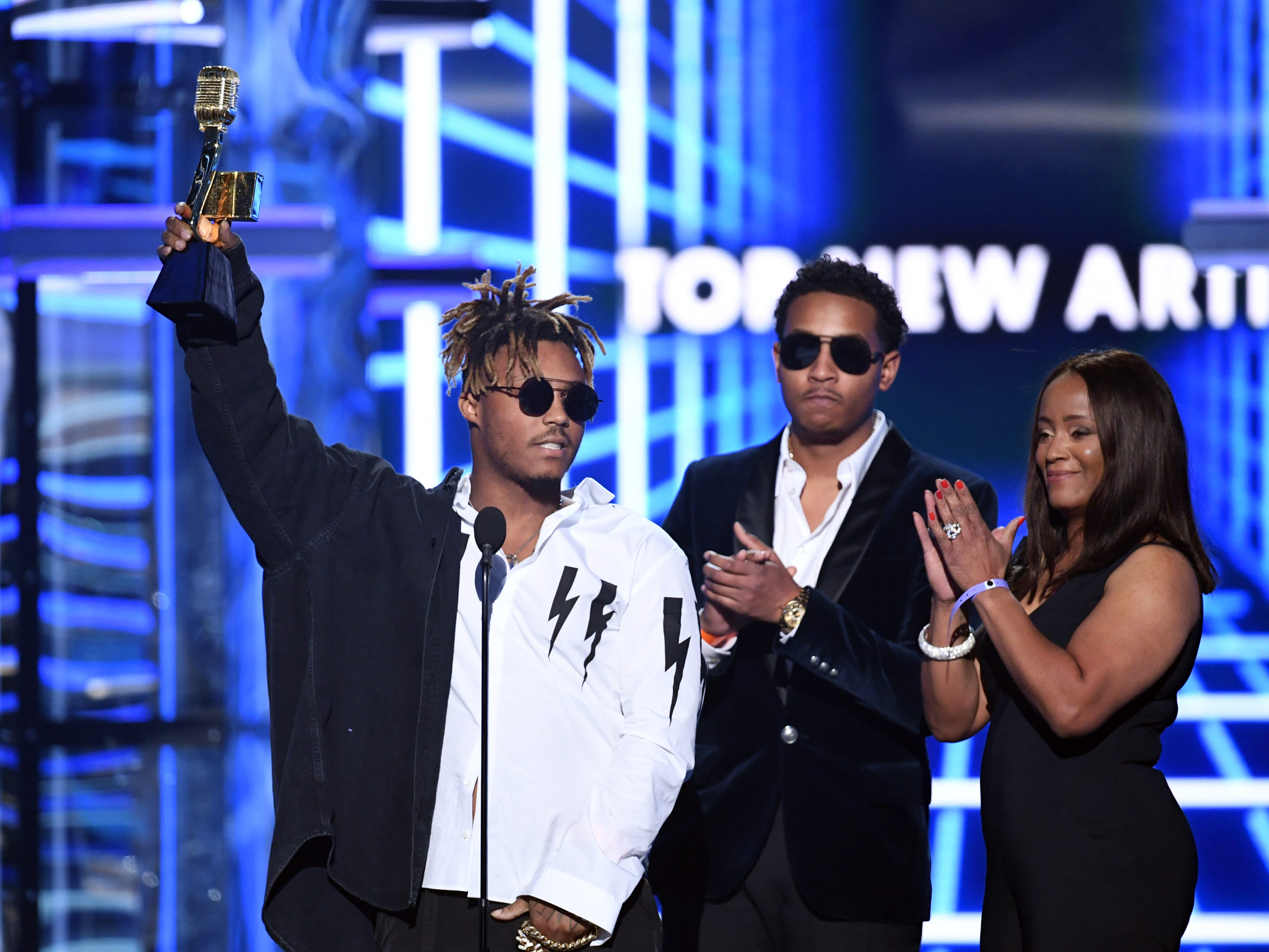 Juice Wrld accepts the Top New Artist award onstage during the 2019 Billboard Music Awards at MGM Grand Garden Arena on May 01, 2019 in Las Vegas, Nevada.