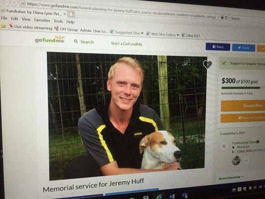 A GoFundMe campaign has been established to pay for a memorial event for Jeremy Huff, formerly of Pataskala, killed in a recent Columbus shooting.