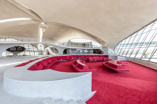 Guests at the TWA Hotel can watch as planes land and take off