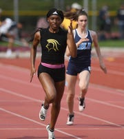 Big North Freedom and United Track Meet at Benjamin Franklin Middle School in Ridgewood on Thursday, May 2, 2019. Mariah Fede, of Paramus Catholic, in the 100M Finals.
