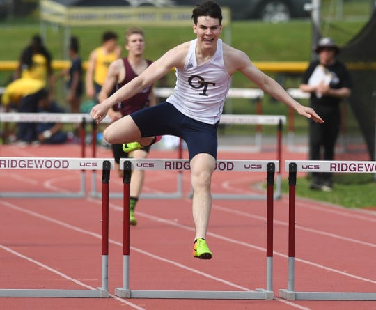 Big North Freedom and United Track Meet at Benjamin Franklin Middle School in Ridgewood on Thursday, May 2, 2019. Ryan Jordan, of Old Tappan, in the 400IH.
