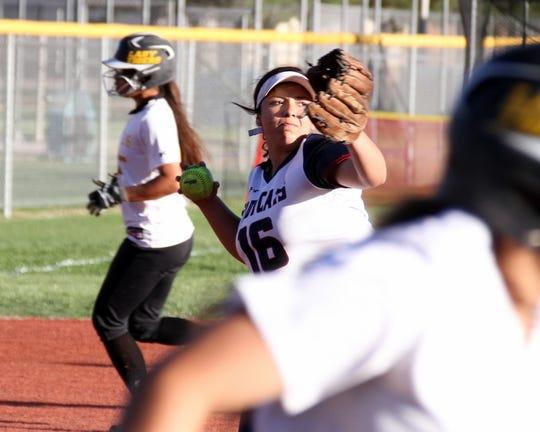 Freshmen Lady 'Cat Nayeli Trujillo (16) has handled the hot corner at third all season long.
