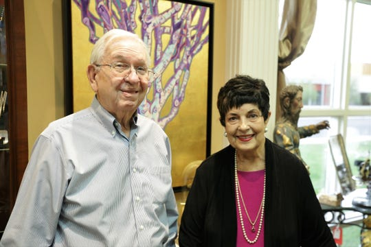 Glenn and Sally Cutter, who have sold art, jewelry and antiques in Las Cruces for 45 years, at Cutter Gallery on Tuesday, April 23, 2019.