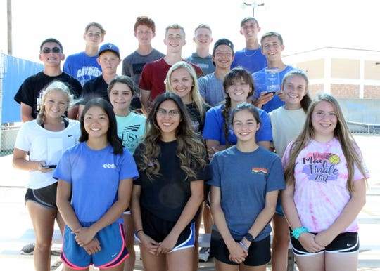 The Carlsbad tennis team displays both 4-5A district awards won last week in Hobbs. Carlsbad hosts the Individual Singles and Doubles District Tournament on Friday starting at 11:30 a.m.