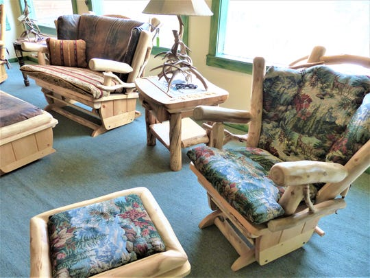 This furniture was created from Colorado aspen, something no longer available.