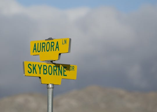 A developer plans to resume new home construction at the partially complete Skyborne housing development in Desert Hot Springs, April 29, 2019.