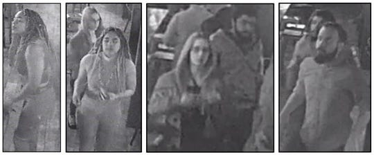 Images of the four suspects.