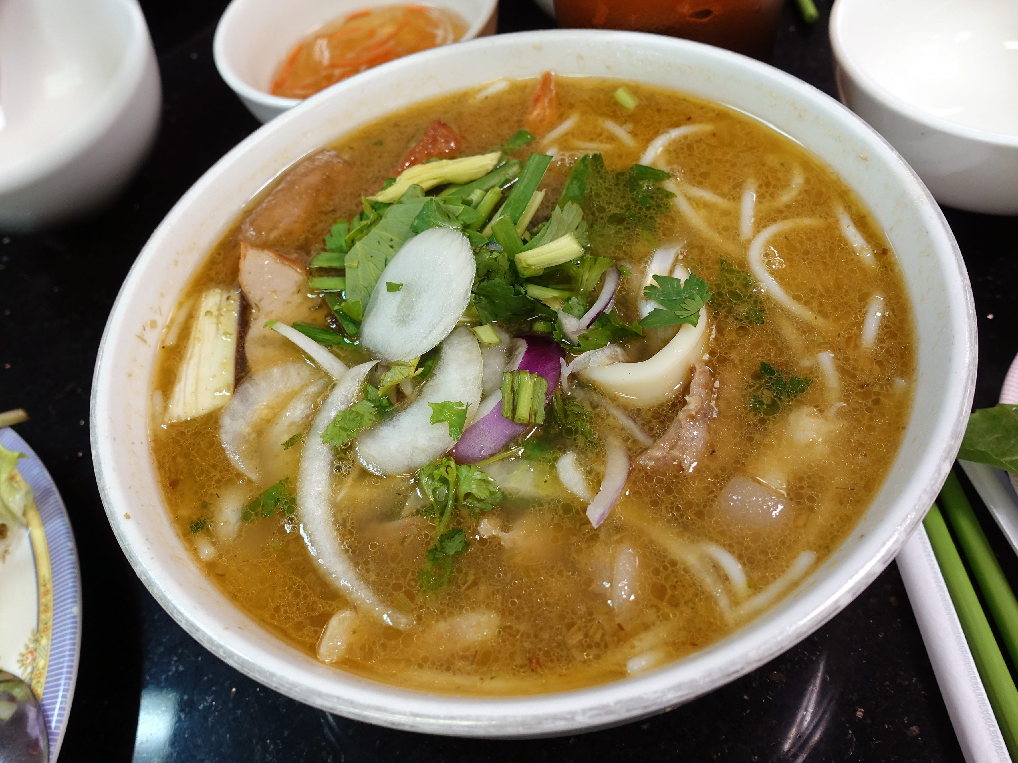 Bun mam (fermented fish noodle soup) at Pho Thanh in Phoenix.