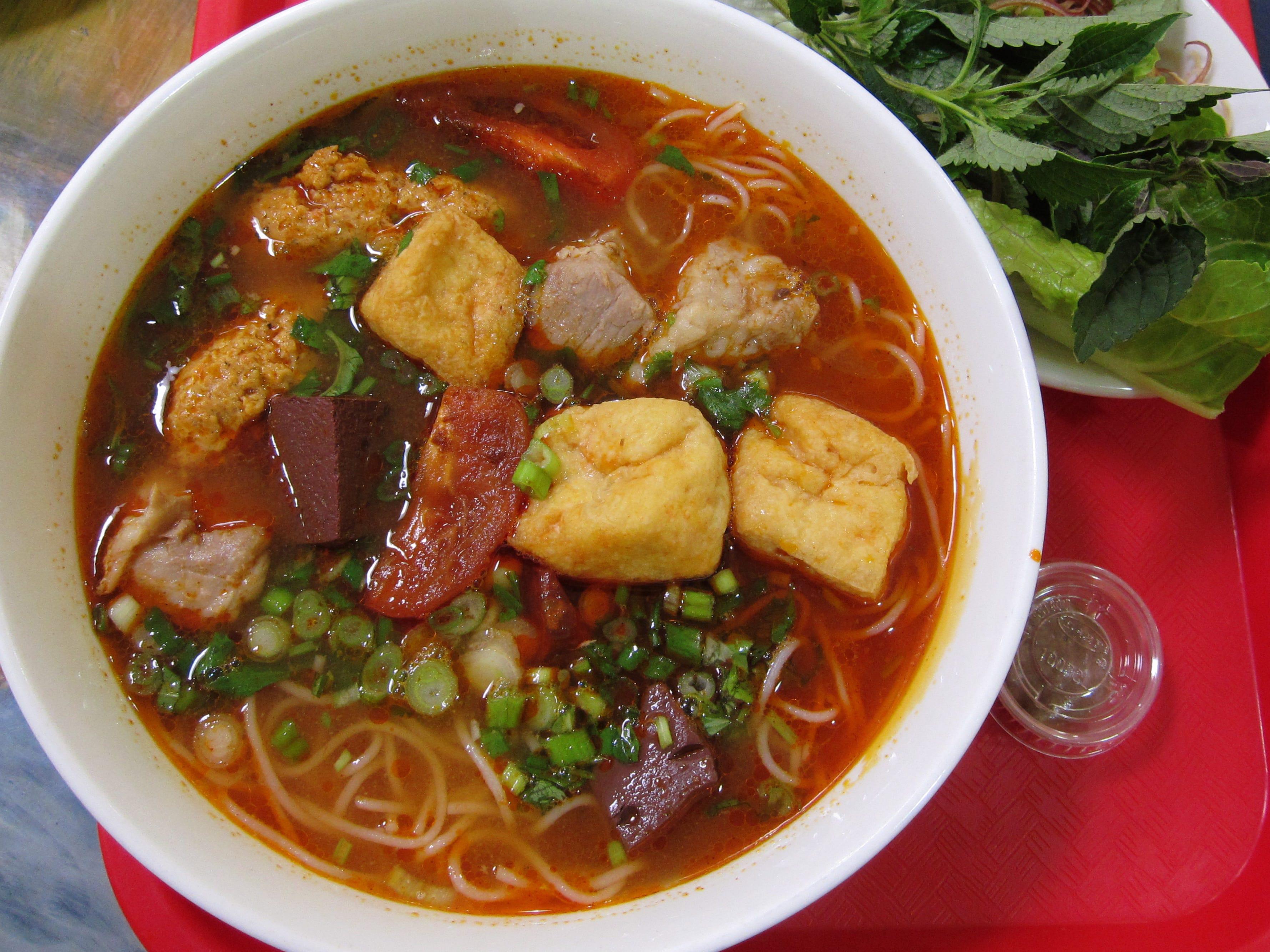 Bun rieu (crab noodle soup) at Hue Gourmet in Mesa, AZ.