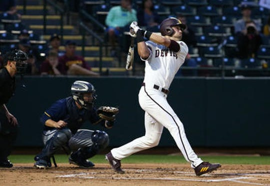 ASU junior Hunter Bishop has 18 home runs, fifth best in the nation, and could be a major league first-round draft pick in June.