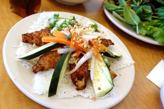 Chao tom (sugar cane shrimp) at Pho Thuan Thanh in Mesa, AZ.
