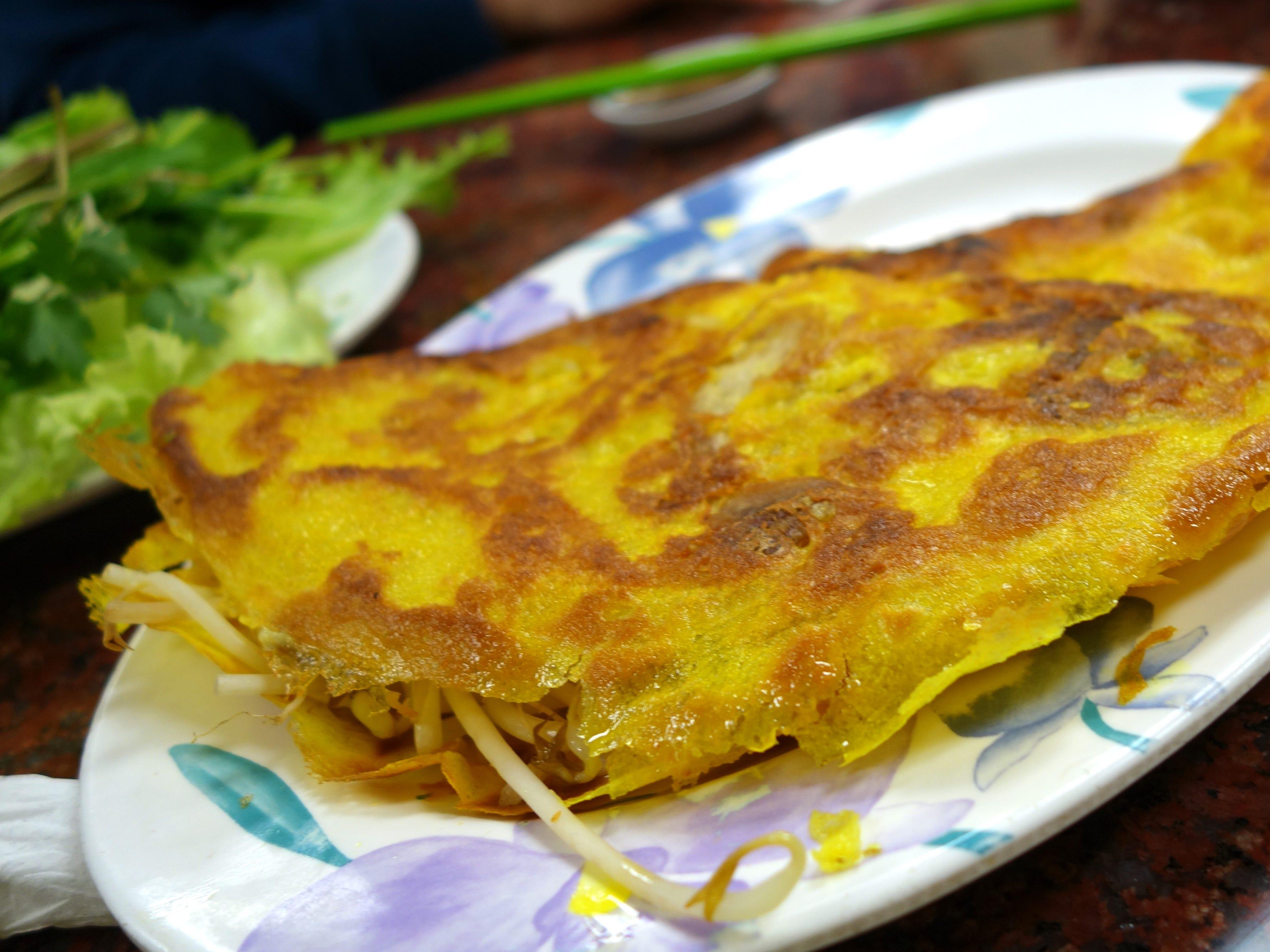 Banh xeo (pan-fried rice crepe) at Pho Thanh in Phoenix, AZ.