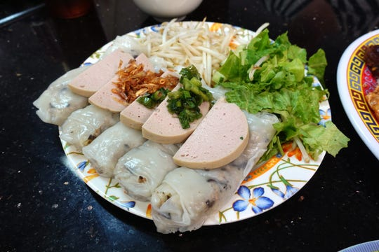 Banh cuon (steamed rice rolls) at Pho Thanh in Phoenix, AZ.