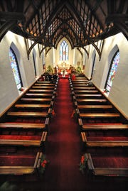 The interior of St. James' Episcopal Church in Hyde Park, which is included in the New York Landmarks Conservancy's ninth annual Sacred Sites Open House, May 18-19.