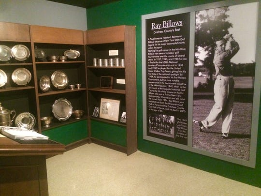 Ray Billows exhibit in the Dutchess County Sports Museum.