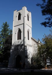 An exterior view of the front of St. James' Episcopal Church in Hyde Park, which is included in the New York Landmarks Conservancy's ninth annual Sacred Sites Open House, May 18-19.